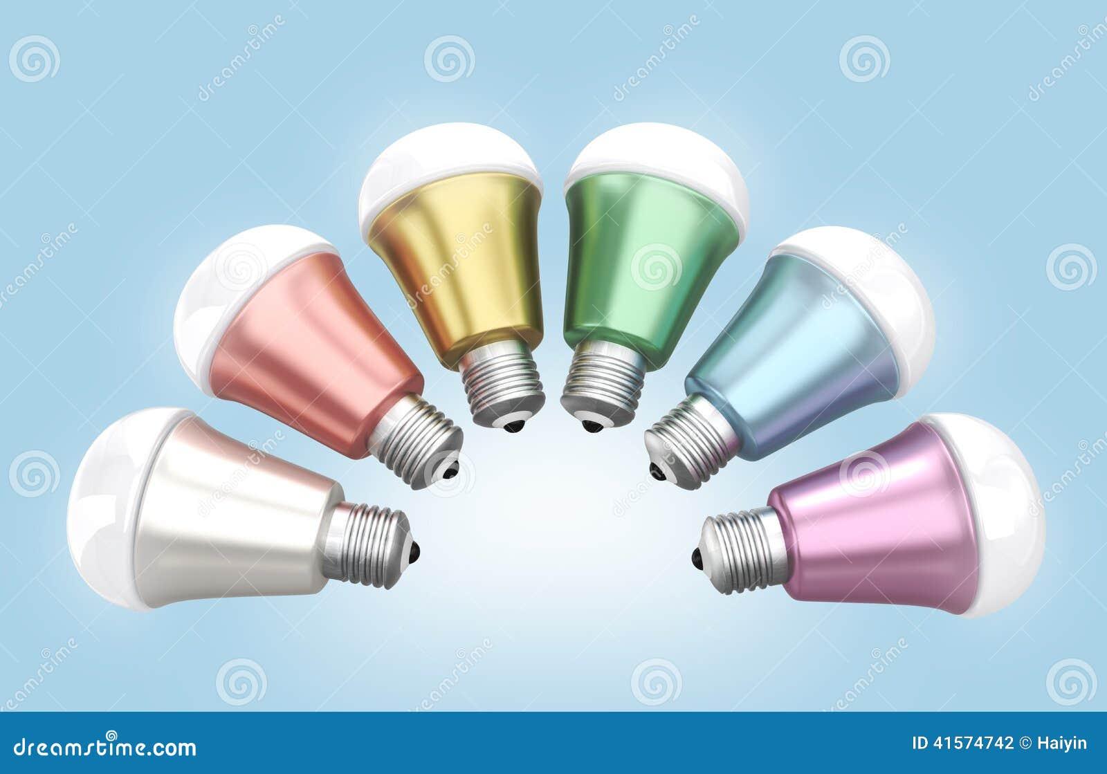 Energy Efficient Led Light Bulbs Arranged In Fan Shape Stock Illustration Image 41574742