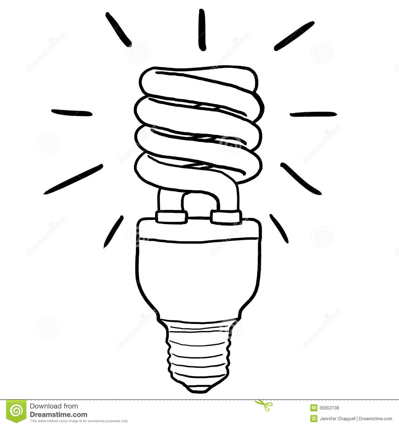 energy efficient light bulb stock illustration