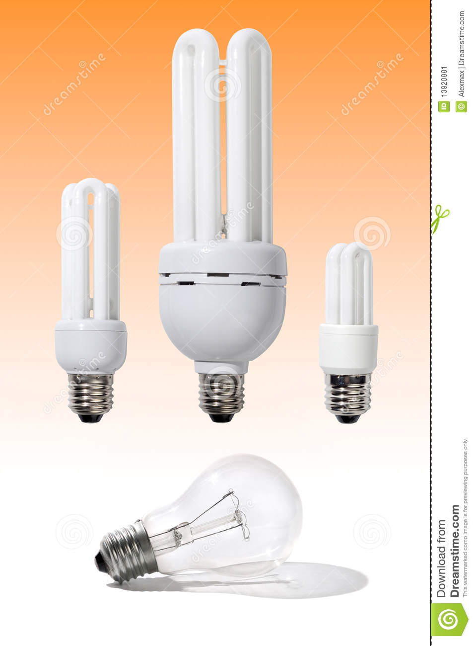 Energy Efficient Light Bulbs Stock Image Image 13920881
