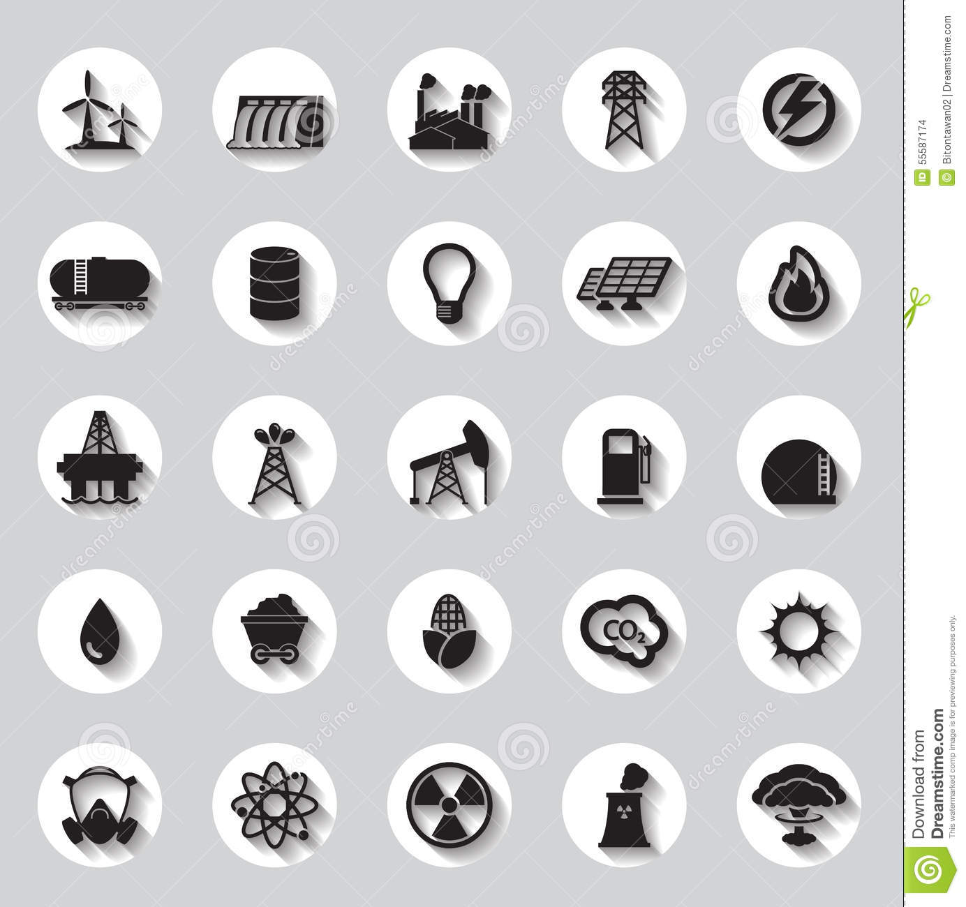 Electricity energy symbols and icons set stock vector energy electricity power icons signs and symbols stock images biocorpaavc Gallery