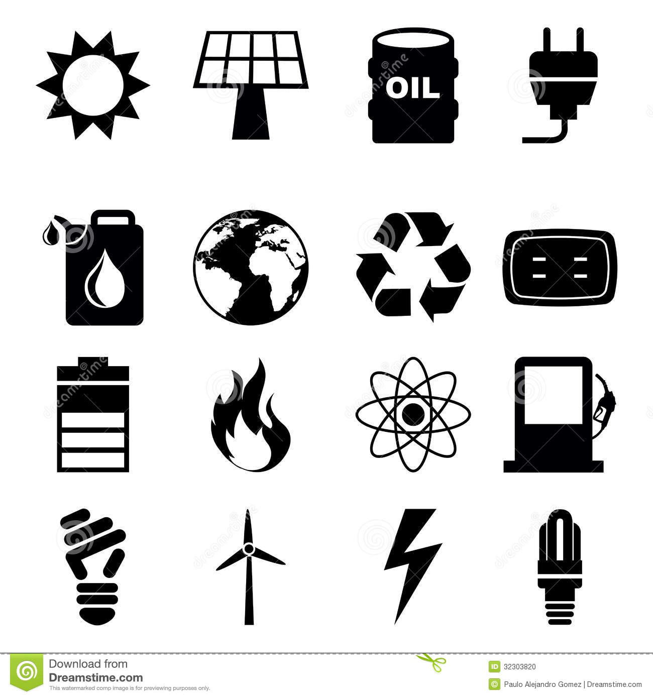 Energy Icons Stock Pho... Water Energy Clipart