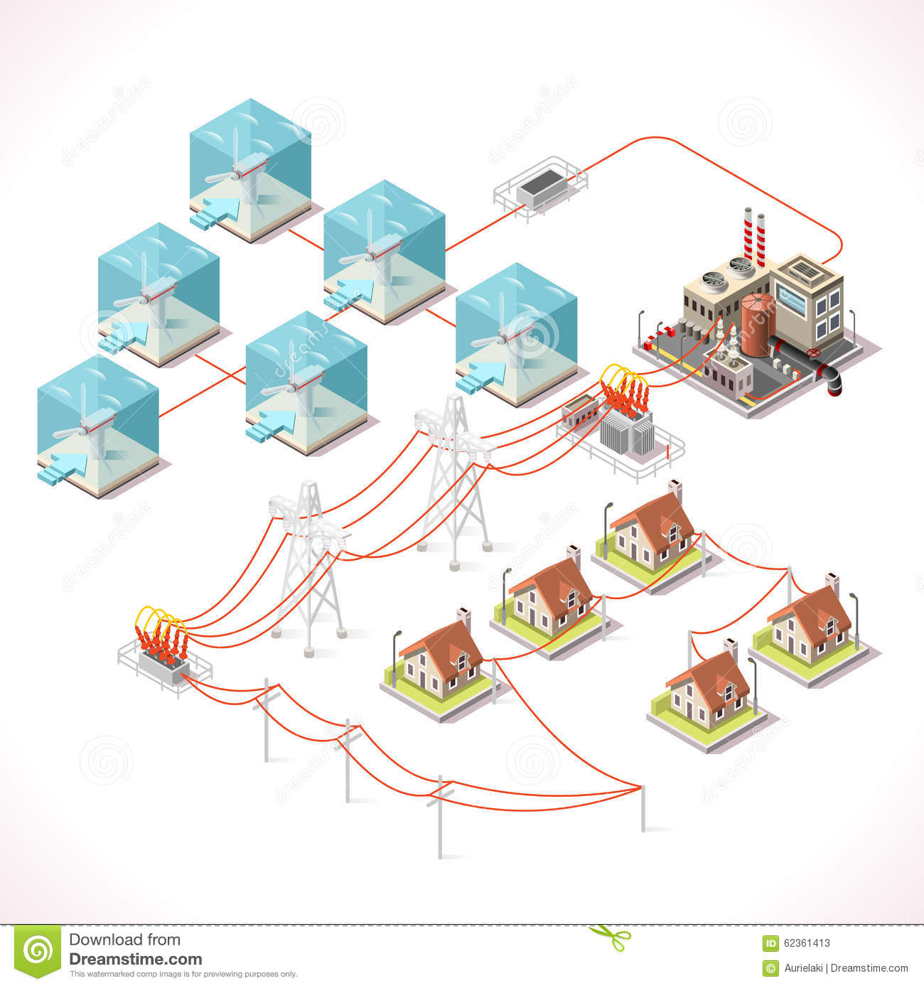 Energy 17 Infographic Isometric Stock Vector Image 62361413