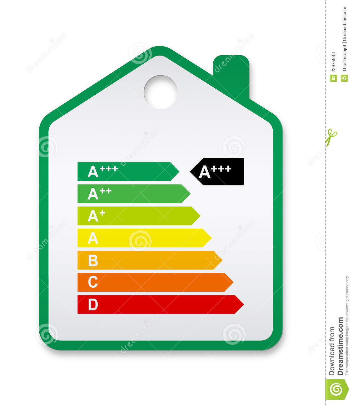 Energy Label House 2012 Stock Vector. Illustration Of