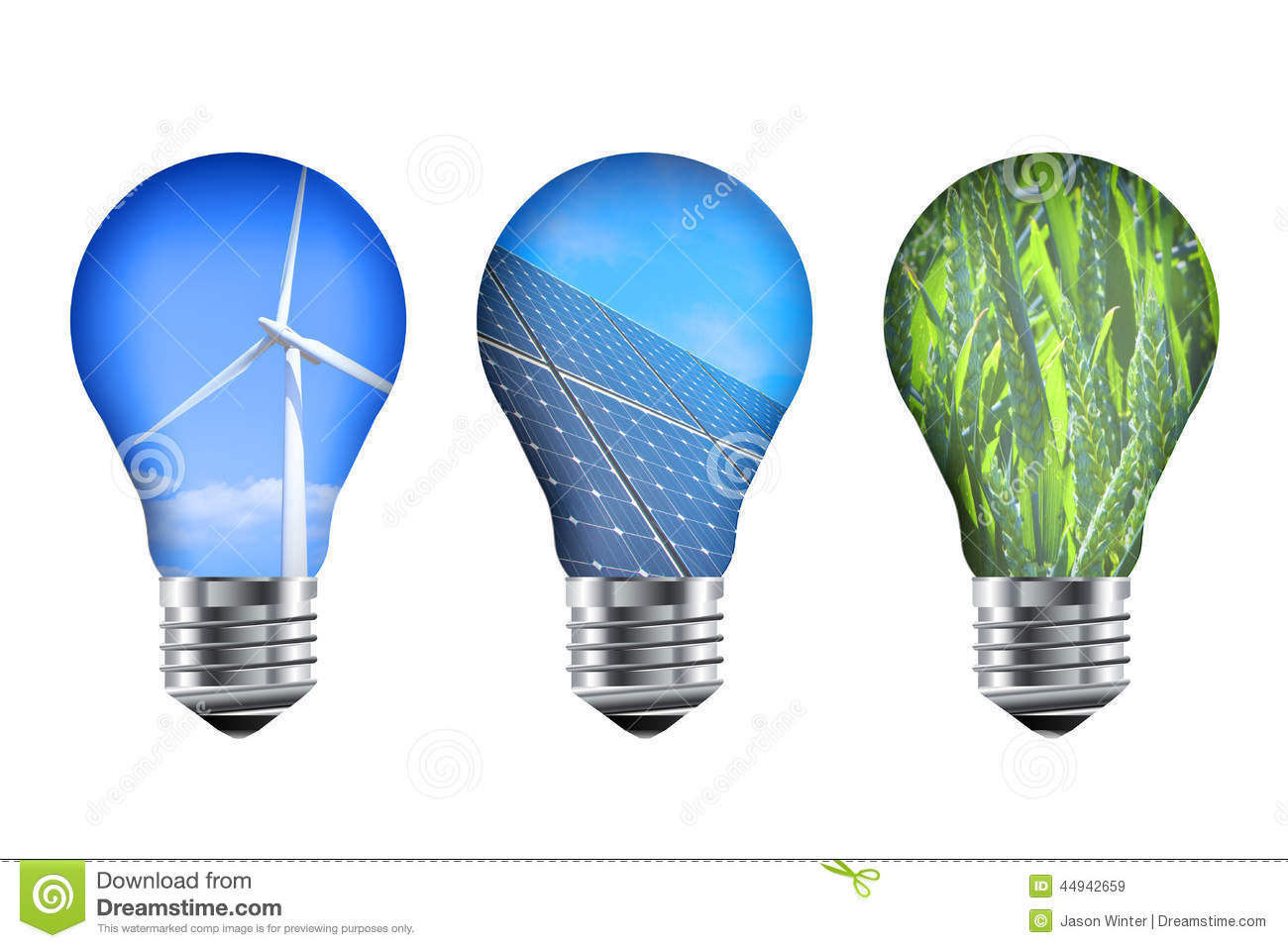 Energy Light Bulbs Stock Illustration Image 44942659