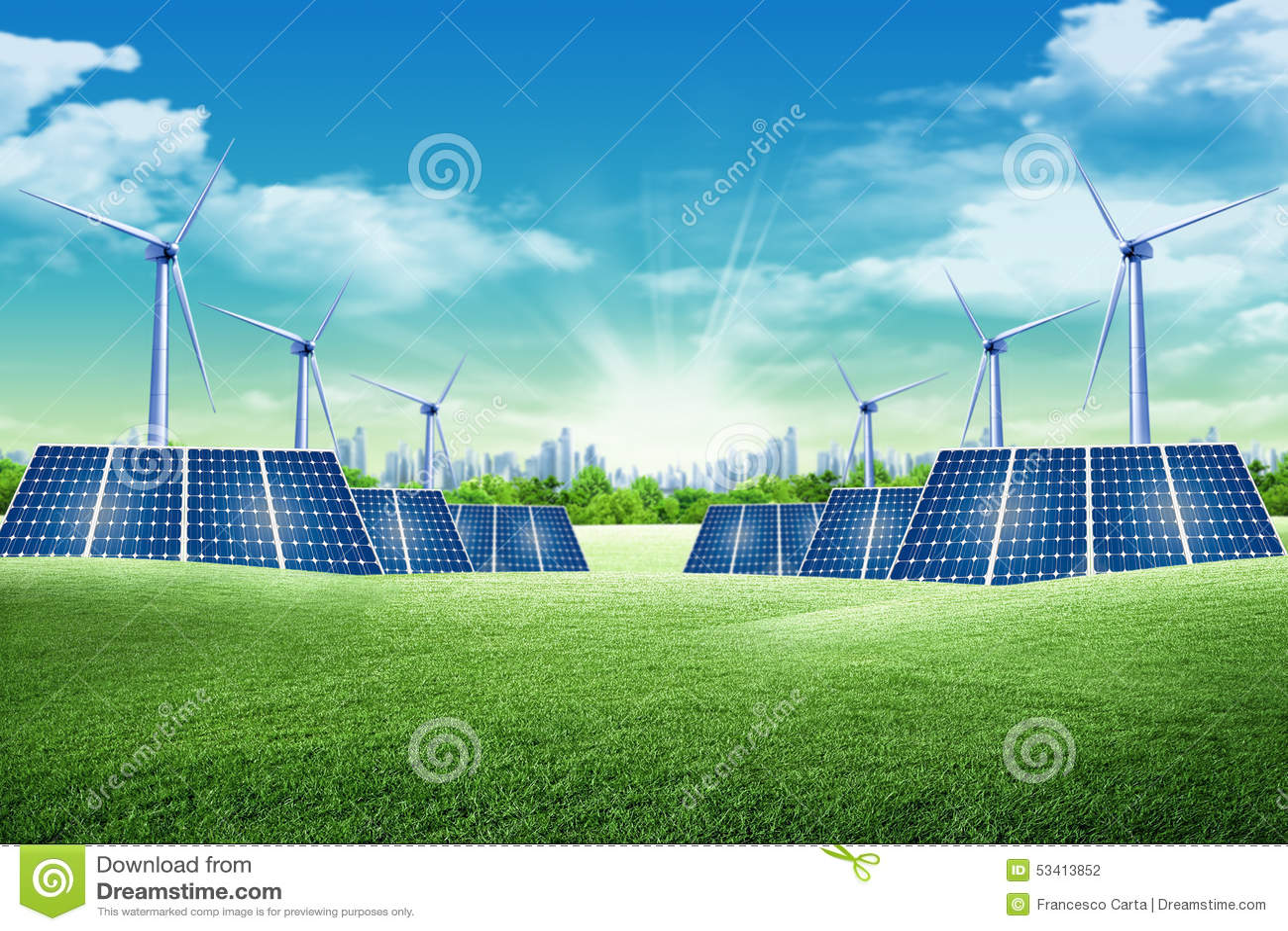Energy Park Stock Photo - Image: 53413852