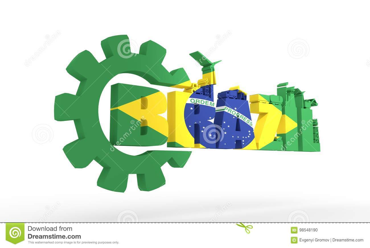 Energy And Power Icons Brazil Word Stock Illustration