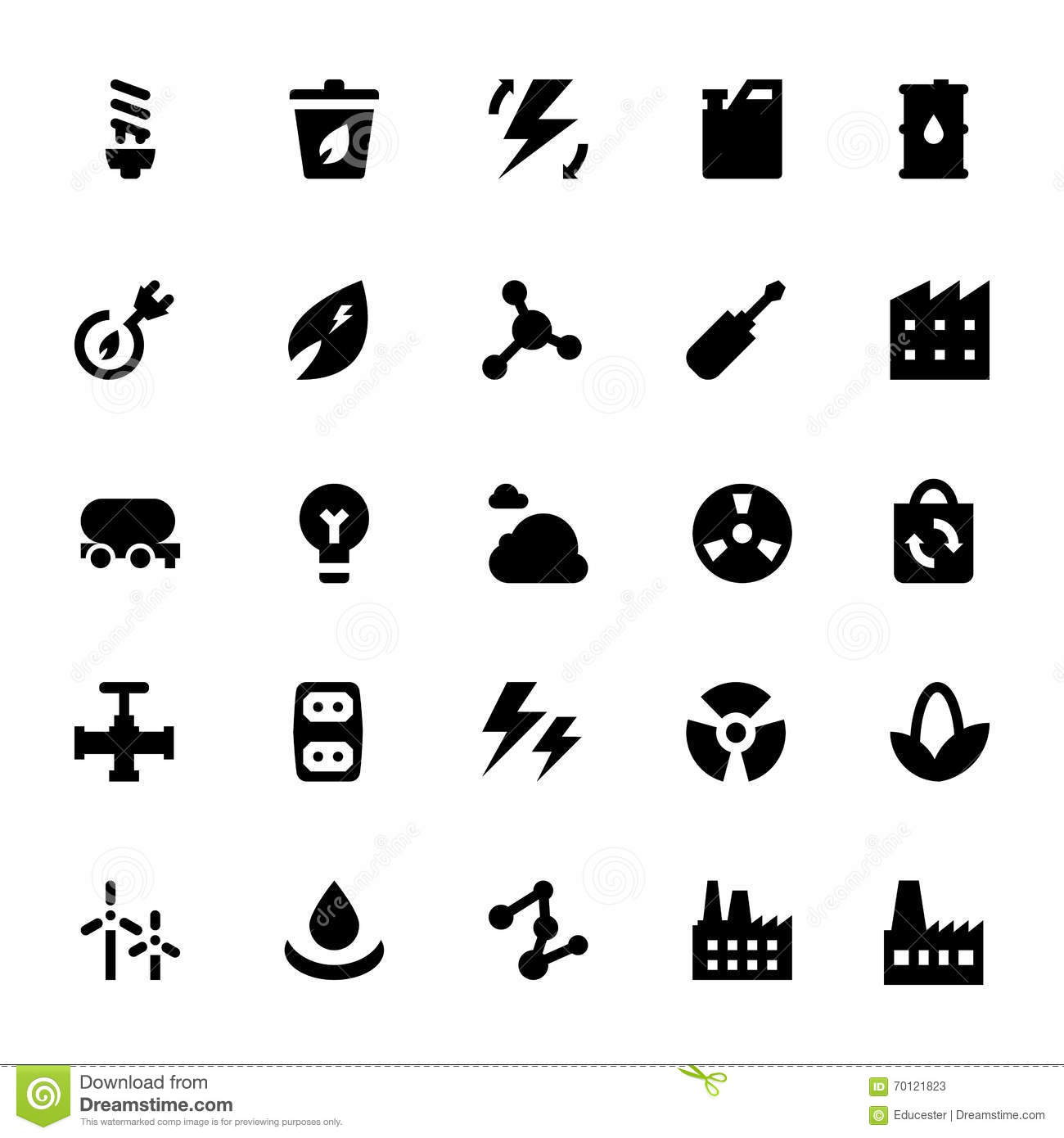 Energy and power 8 stock illustration. Illustration of nuclear ...