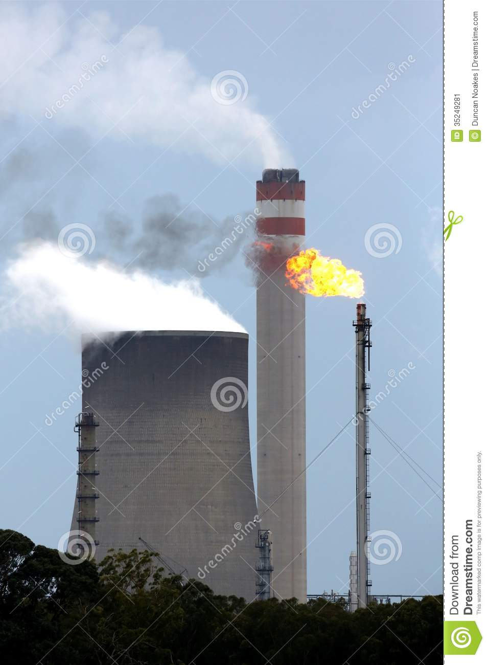energy production factory stock image