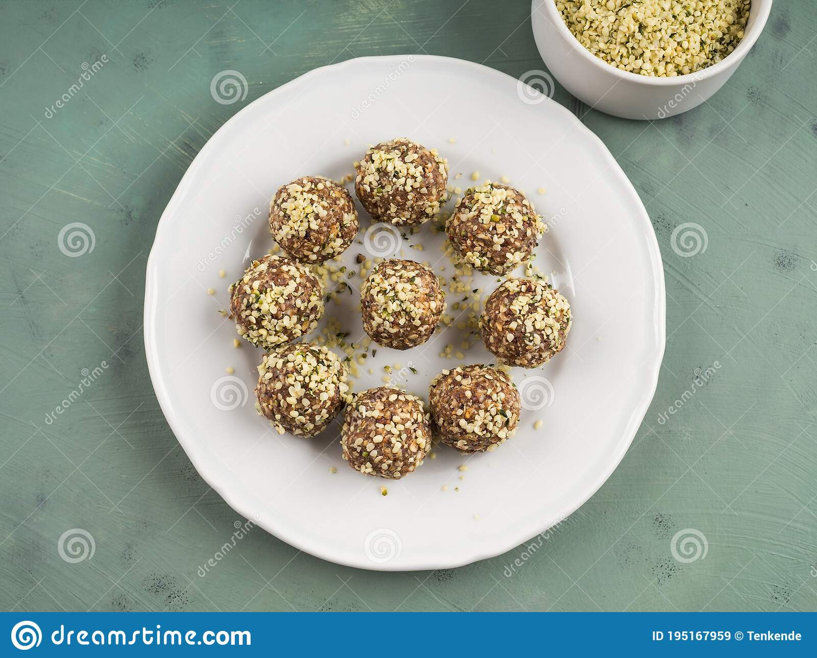 Energy Protein Balls With Nuts Hemp Seeds Stock Image Image Of Peanut Cook 195167959