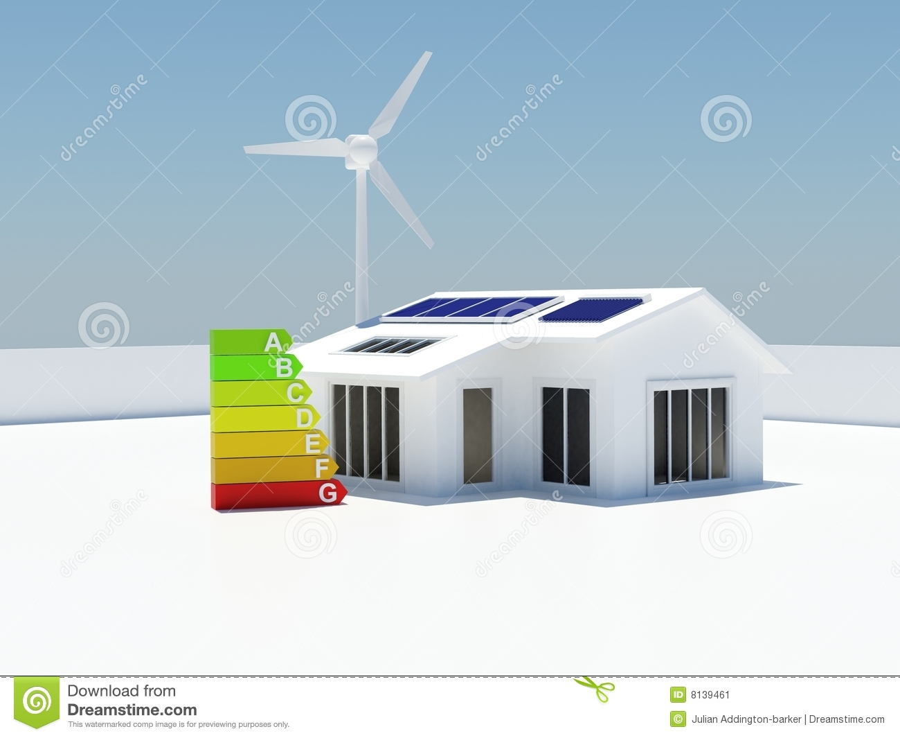 Environmentally friendly house model