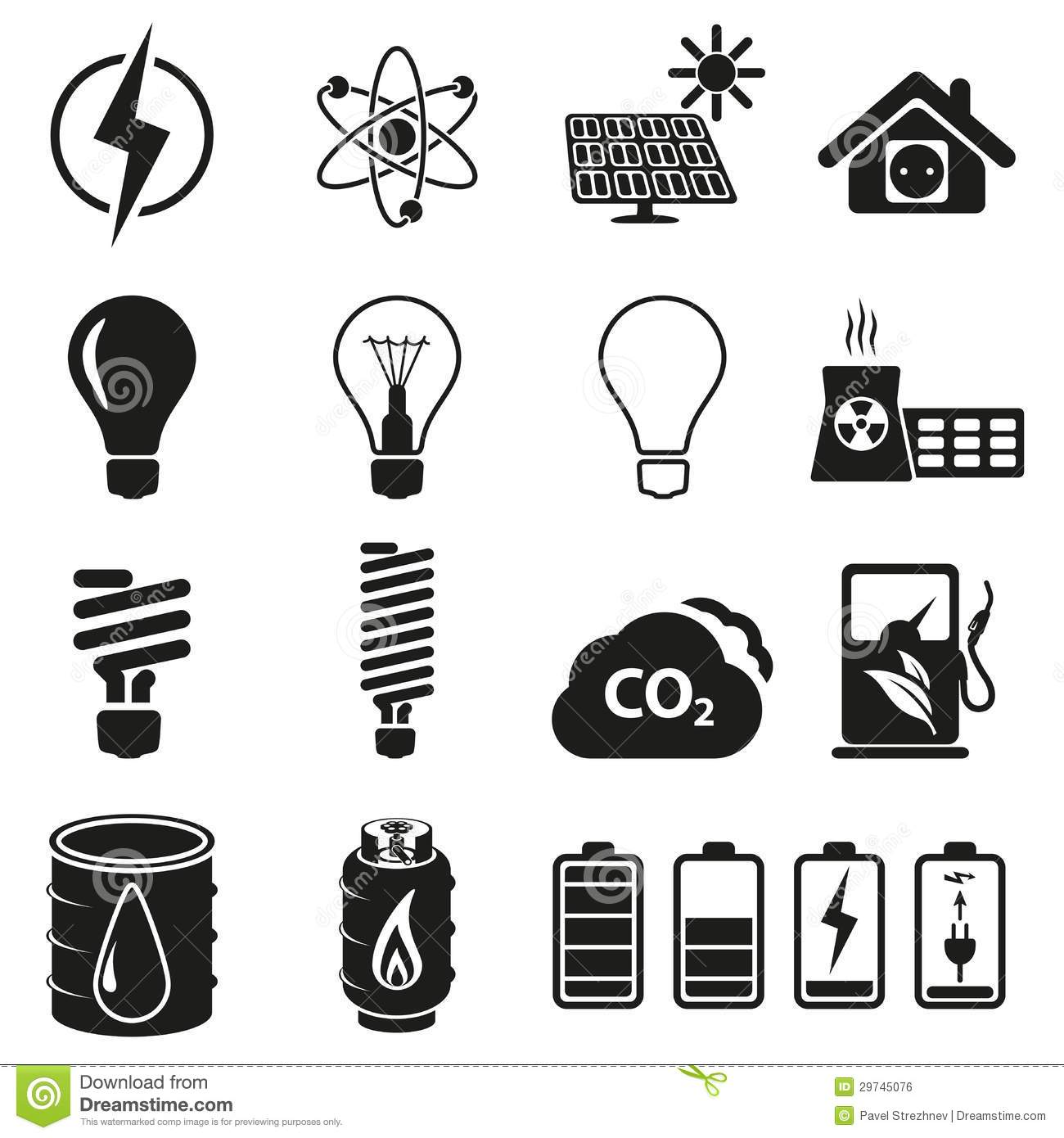 Energy And Re Icon Set Royalty Free Stock Image