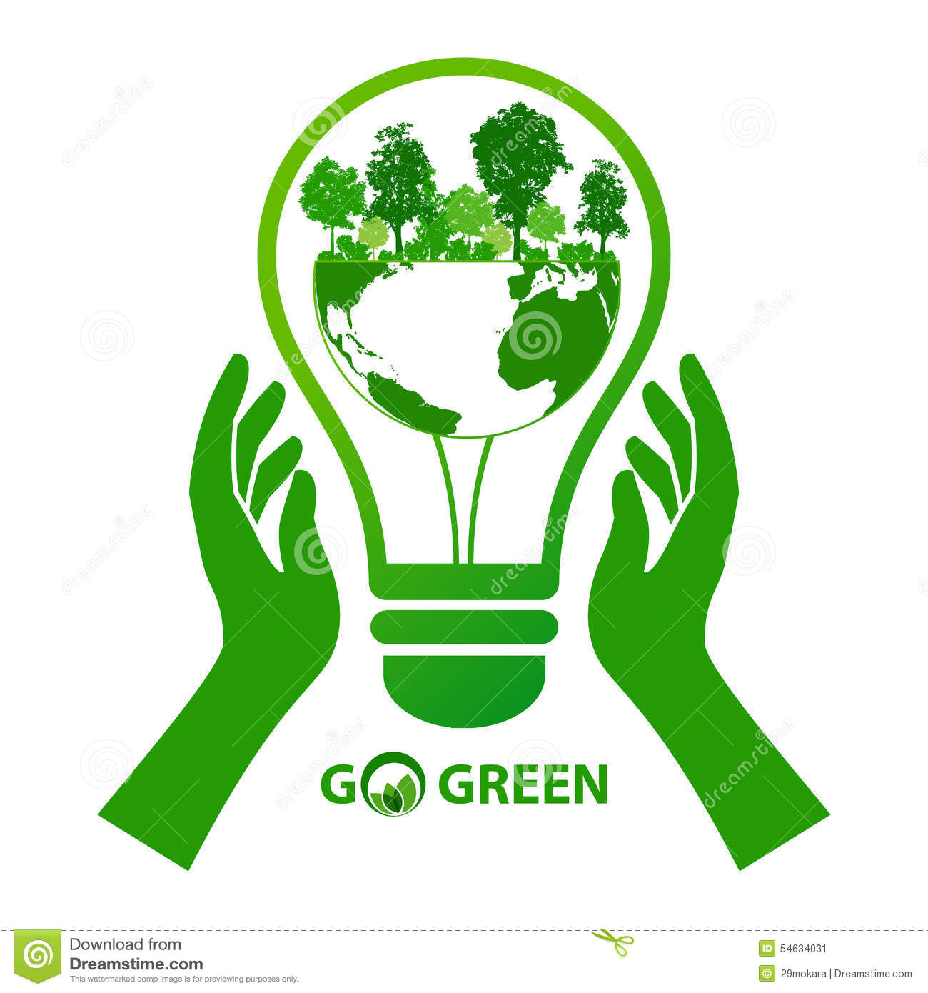 energy save idea concept stock vector illustration of ecological
