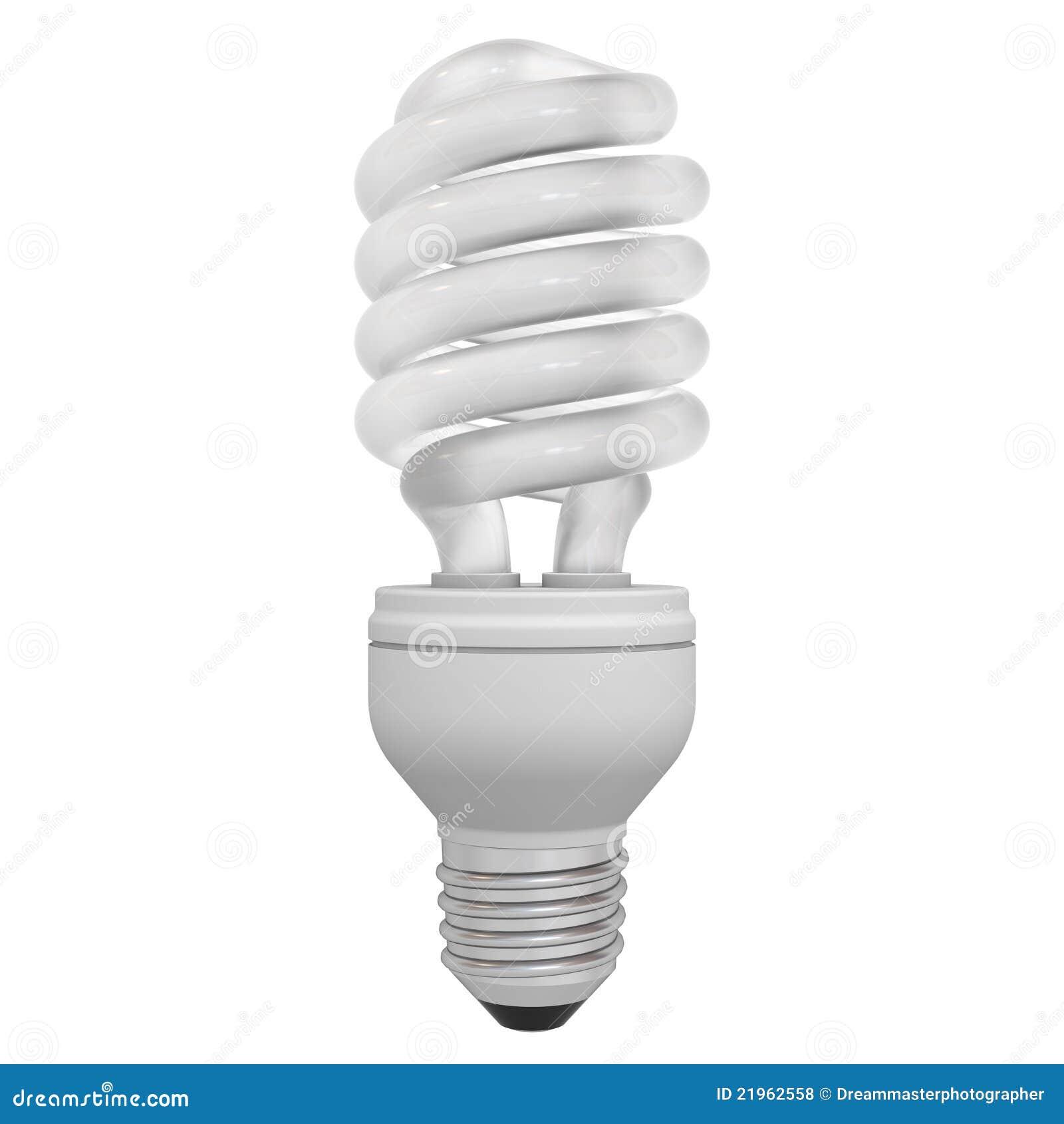 Energy Saving Compact Fluorescent Light Bulb Royalty Free