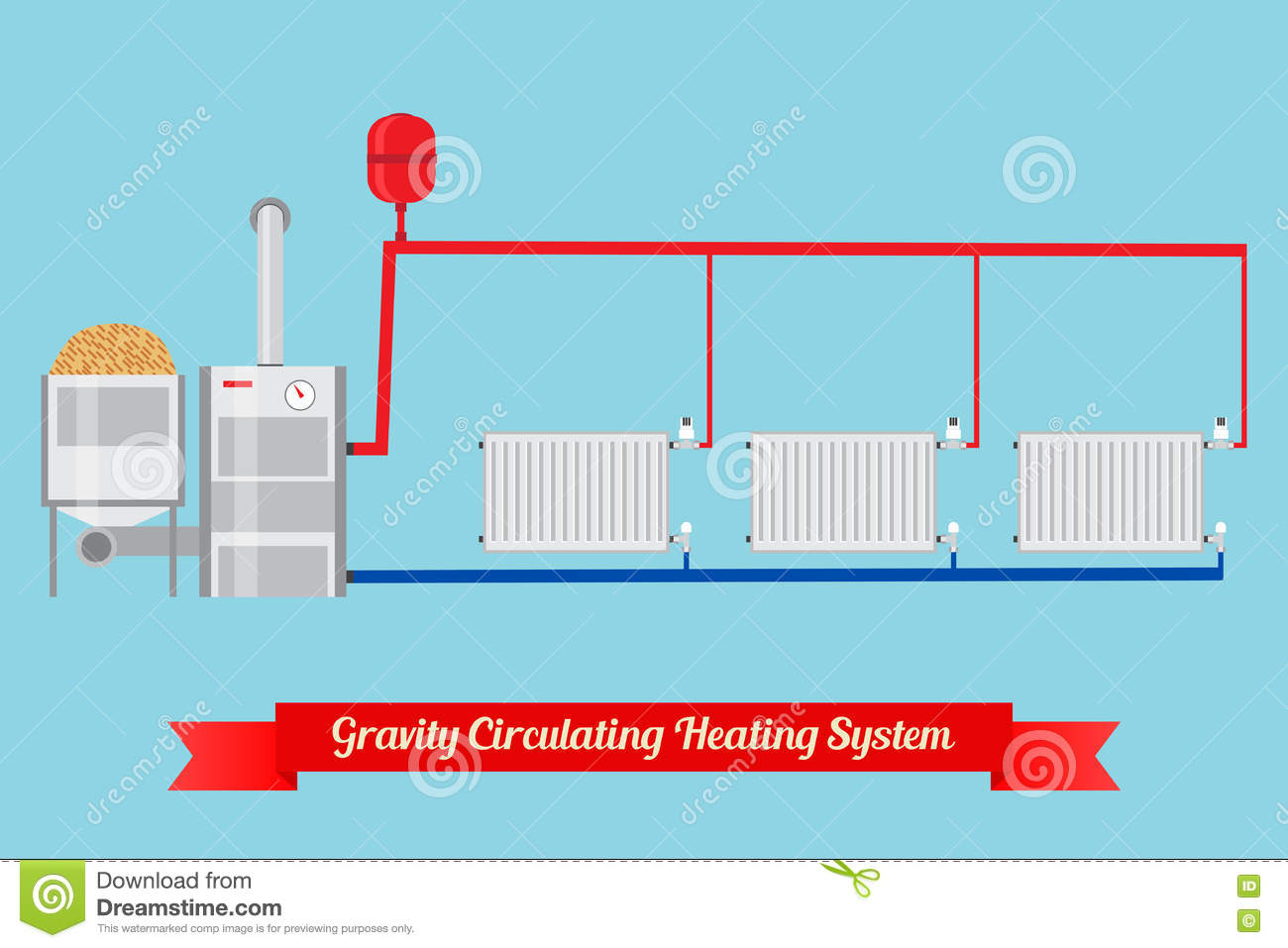 Energy-saving Heating System. Stock Vector - Illustration of ...