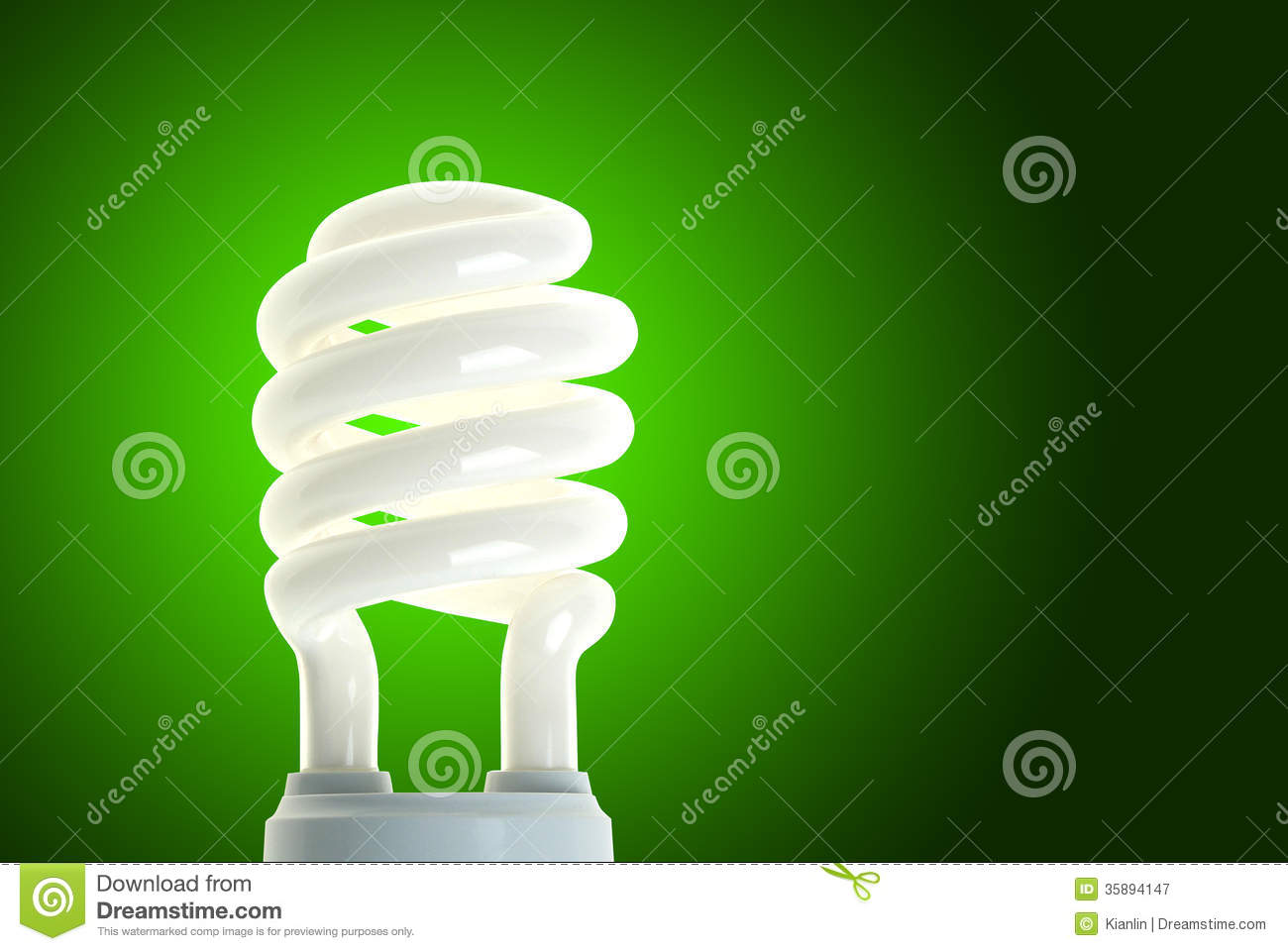 Power Saving CFL Bulb Green Energy Royalty-Free Stock ...