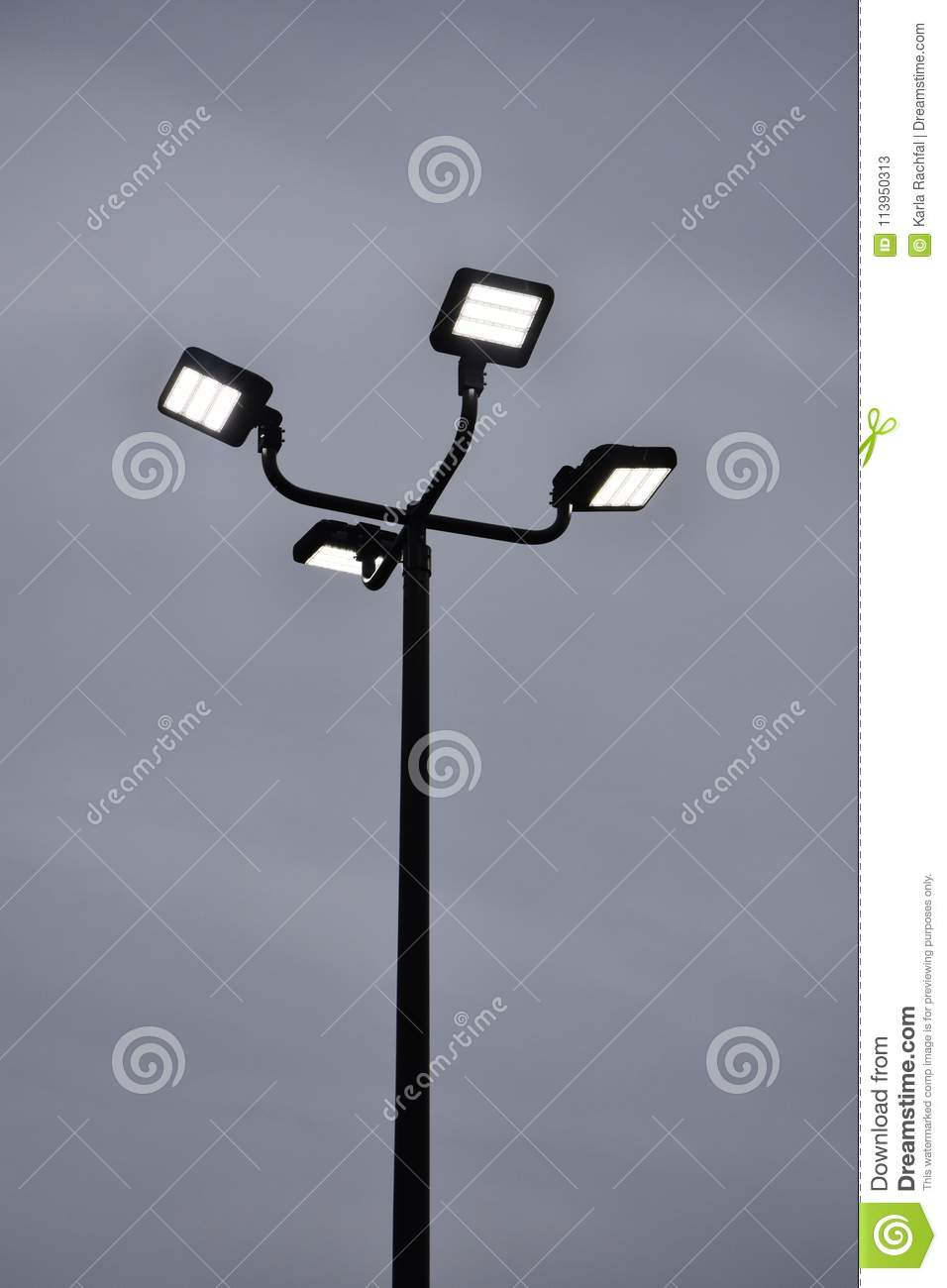 Parking Lot Lighting Stock Image Image Of Security 113950313