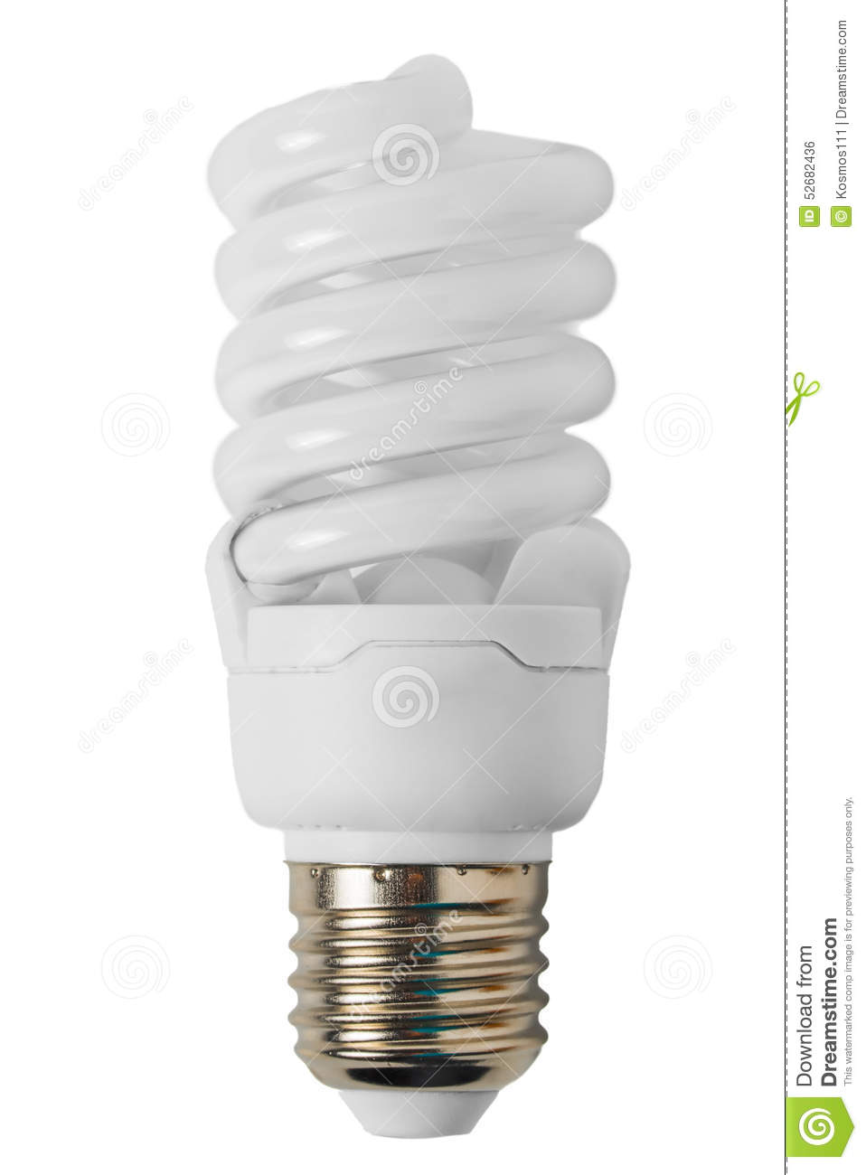 Energy saving light bulb in the form of a spiral