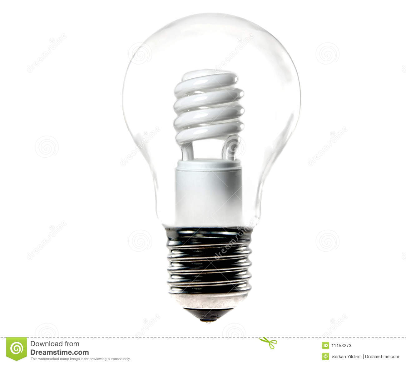 energy saving light bulb in an old tungsten bulb stock photos image. Black Bedroom Furniture Sets. Home Design Ideas