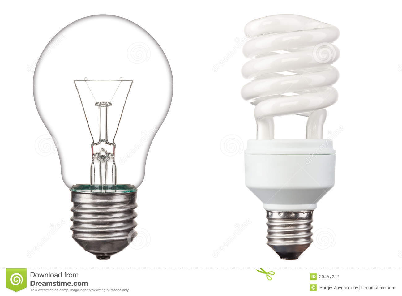 Energy Saving Light Bulbs Royalty Free Stock Photography