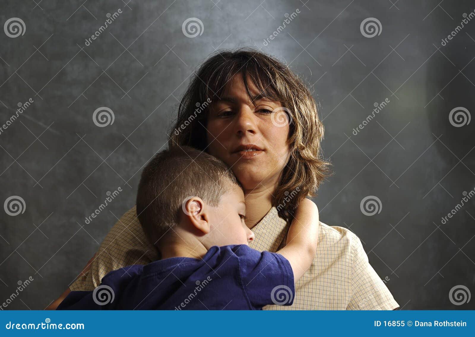 Enfant de fixation de mère