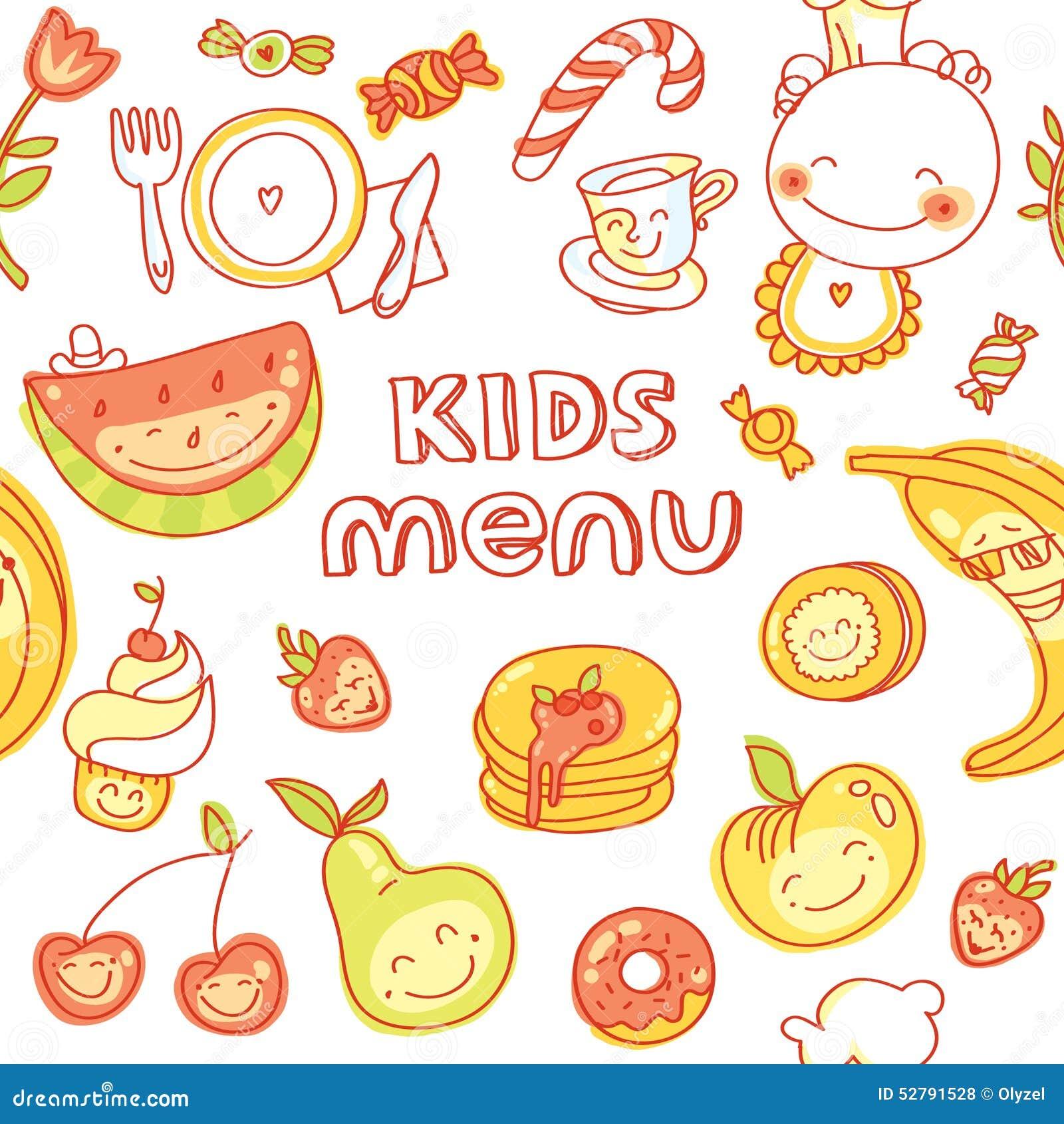 Favori Enfant Et Aliment Pour Bébé, Menu D'enfants Avec Coloré  MV67