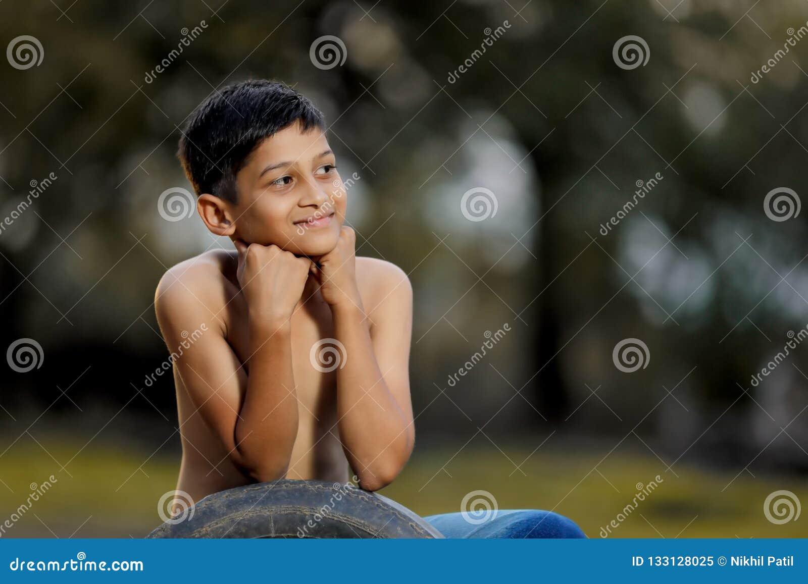 Enfant indien rural