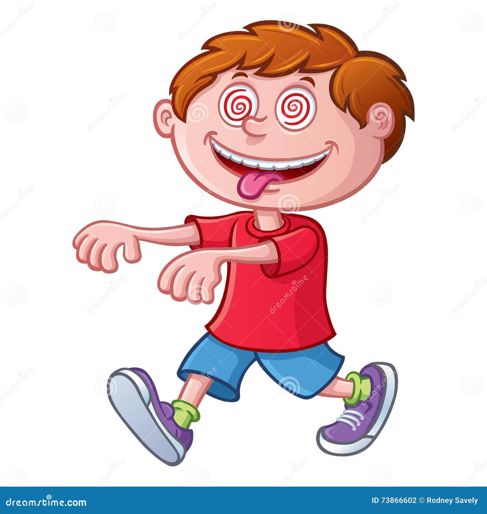 Enfant marchant dans une transe