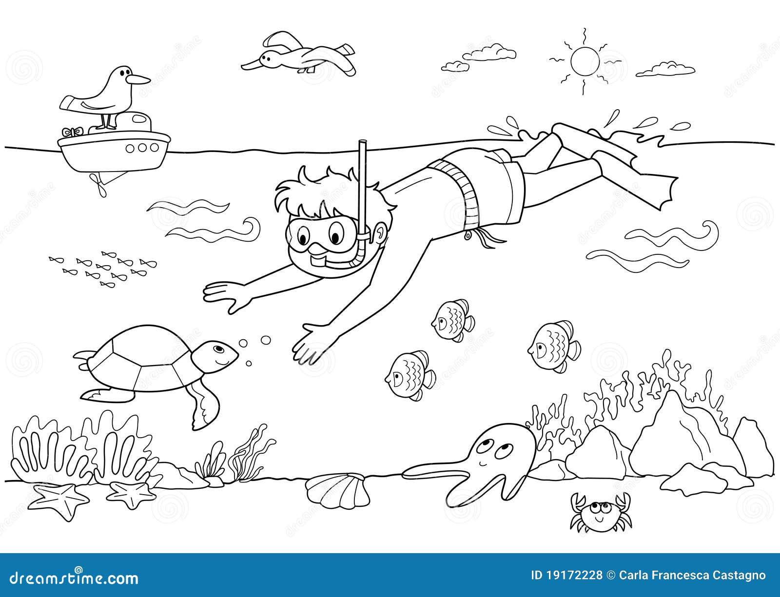 Enfant sous-marin