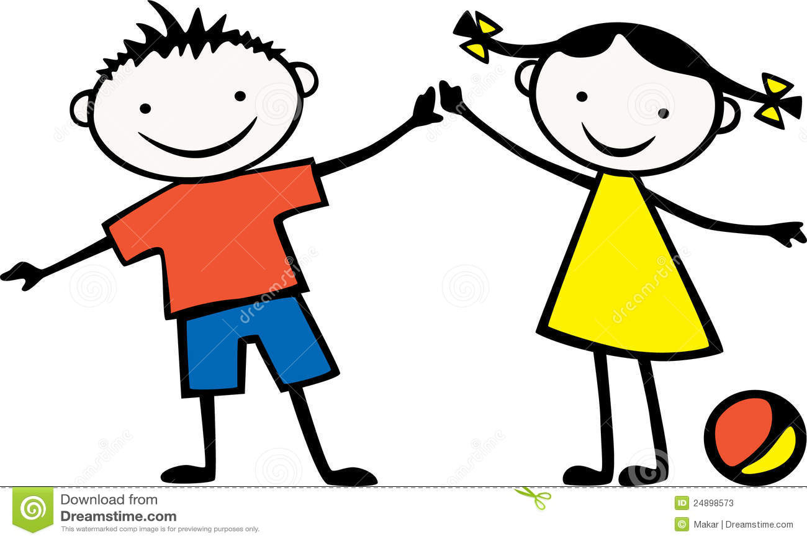 enfants illustration de vecteur image du couples bille 24898573. Black Bedroom Furniture Sets. Home Design Ideas