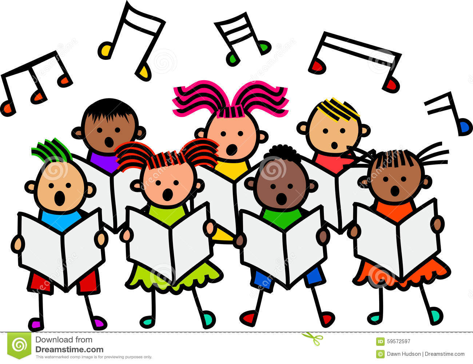 Enfants Chanteurs Illustration Stock Image 59572597