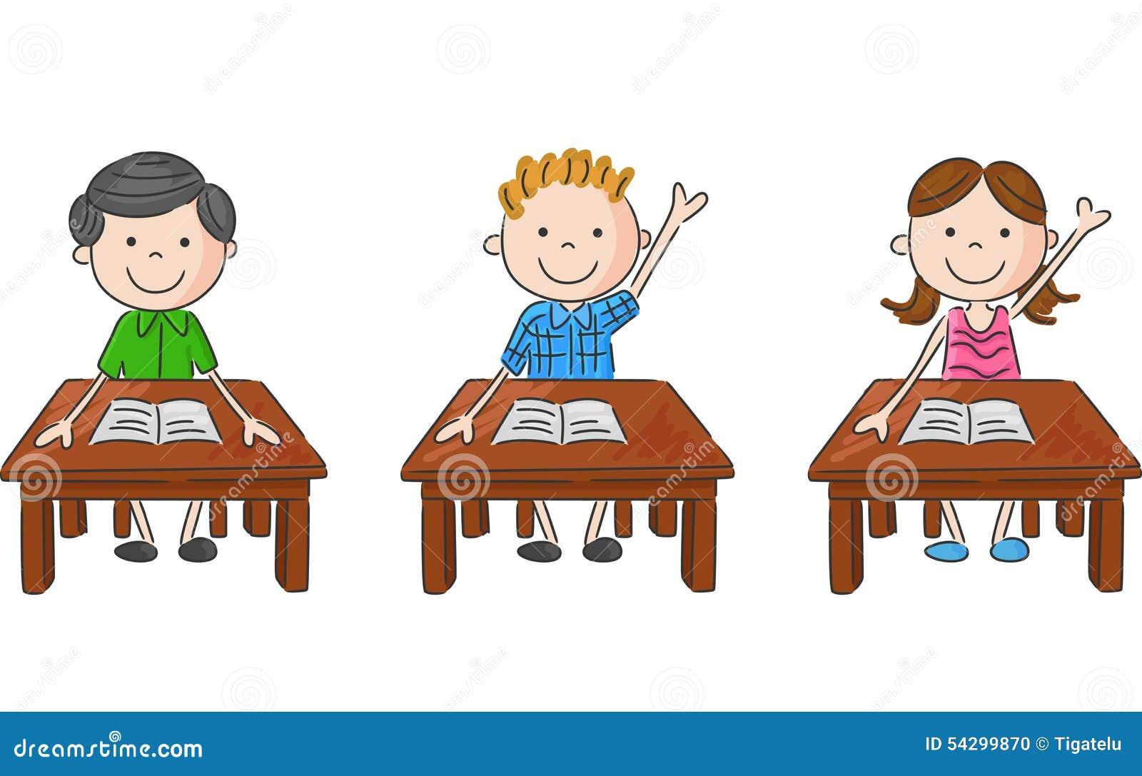 Enfants D 233 Cole De Bande Dessin 233 E Se Reposant Sur La Table