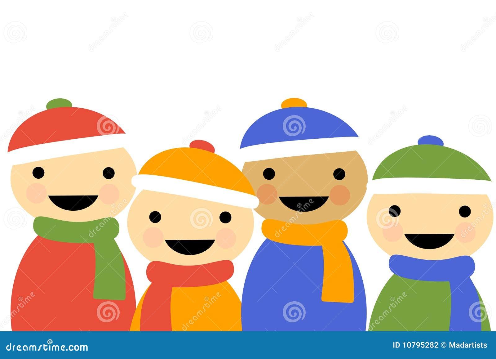 Enfants de dessin anim de l 39 hiver illustration stock illustration du dessin enfants 10795282 - Dessin de l hiver ...