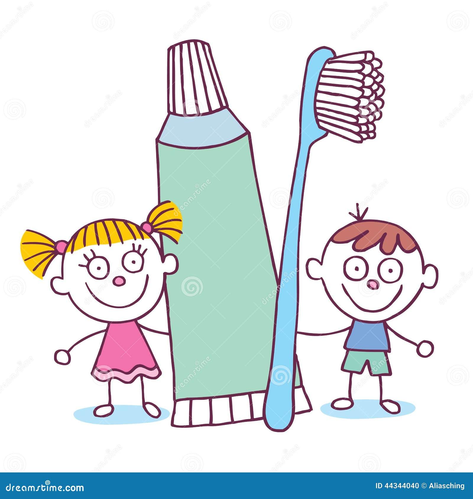Illustration de Vecteur  Enfants dentaires d hygi  232 ne avec la brosse    Kid Toothbrush Clipart