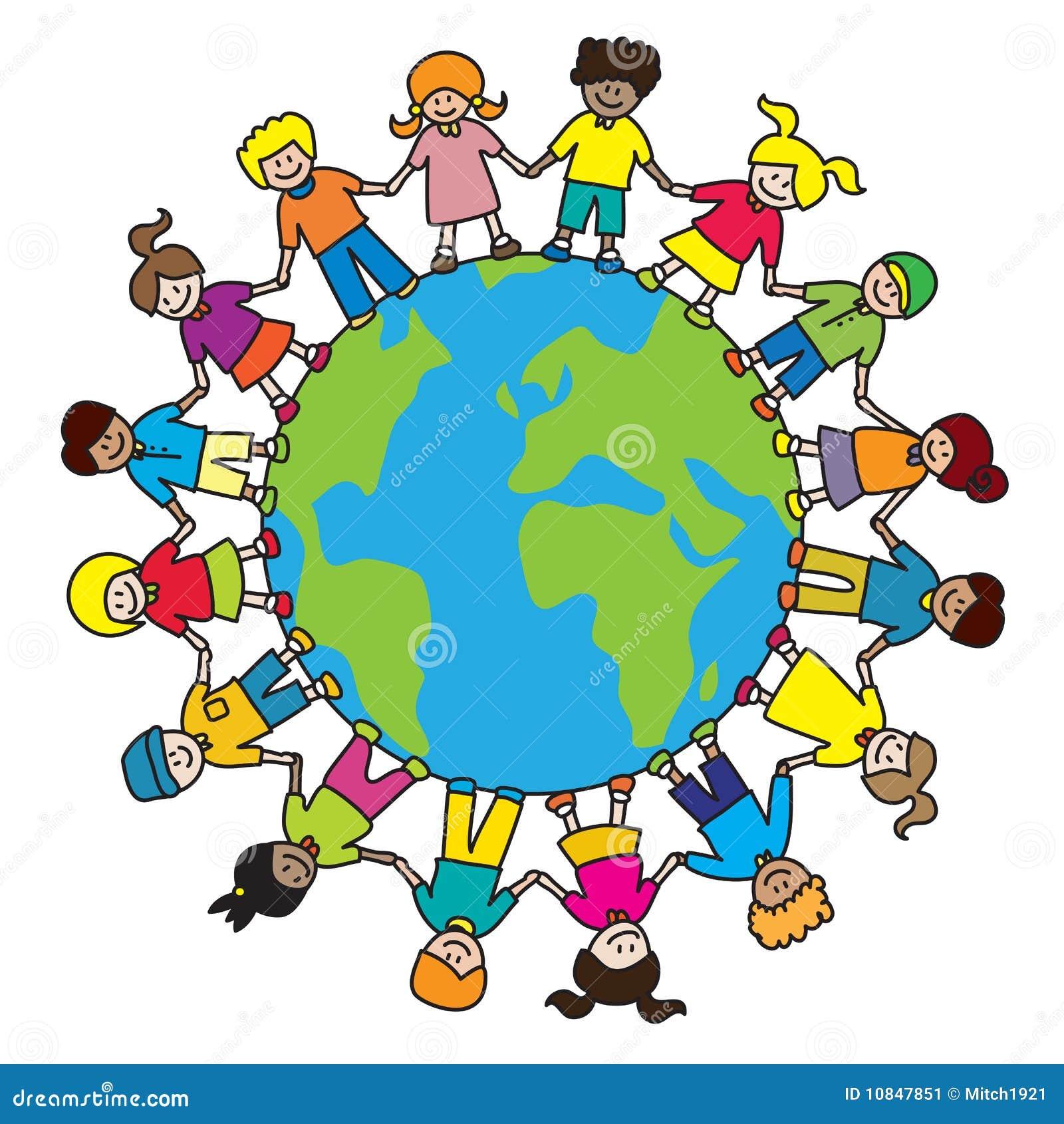 Assez Enfants du monde illustration de vecteur. Image du branchez - 10847851 QH28