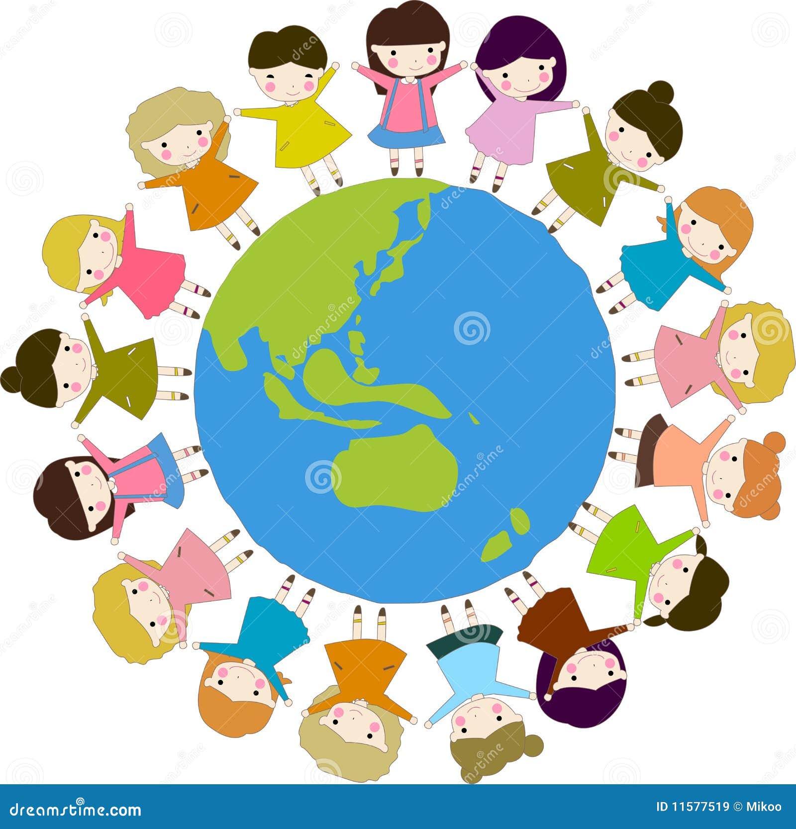Assez Enfants du monde illustration de vecteur. Image du community  BU47