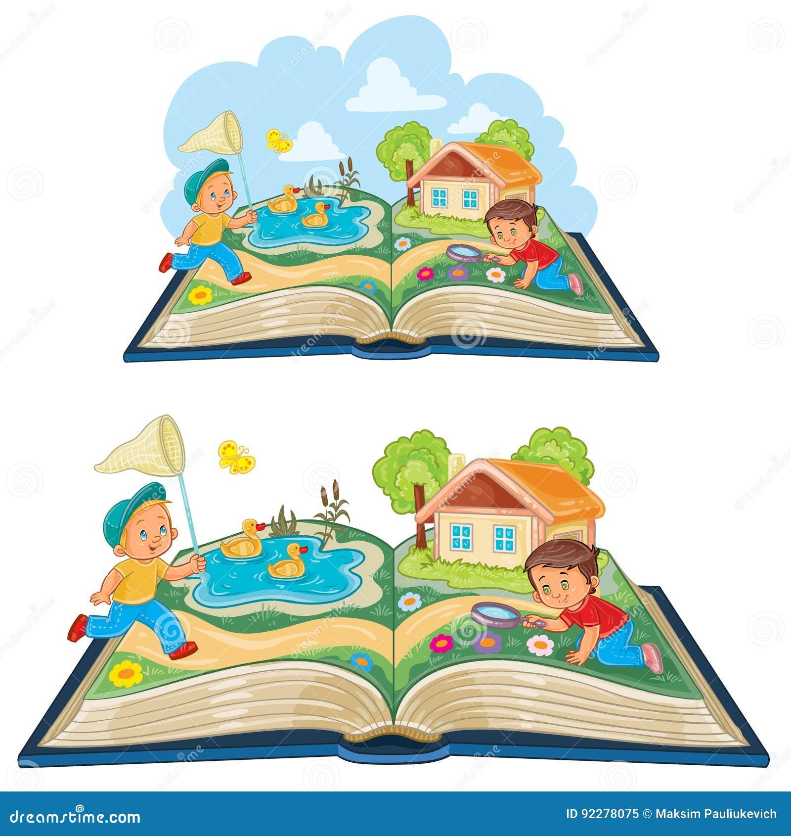 Enfants En Bas Age Etudiant La Nature Comme Livre Ouvert