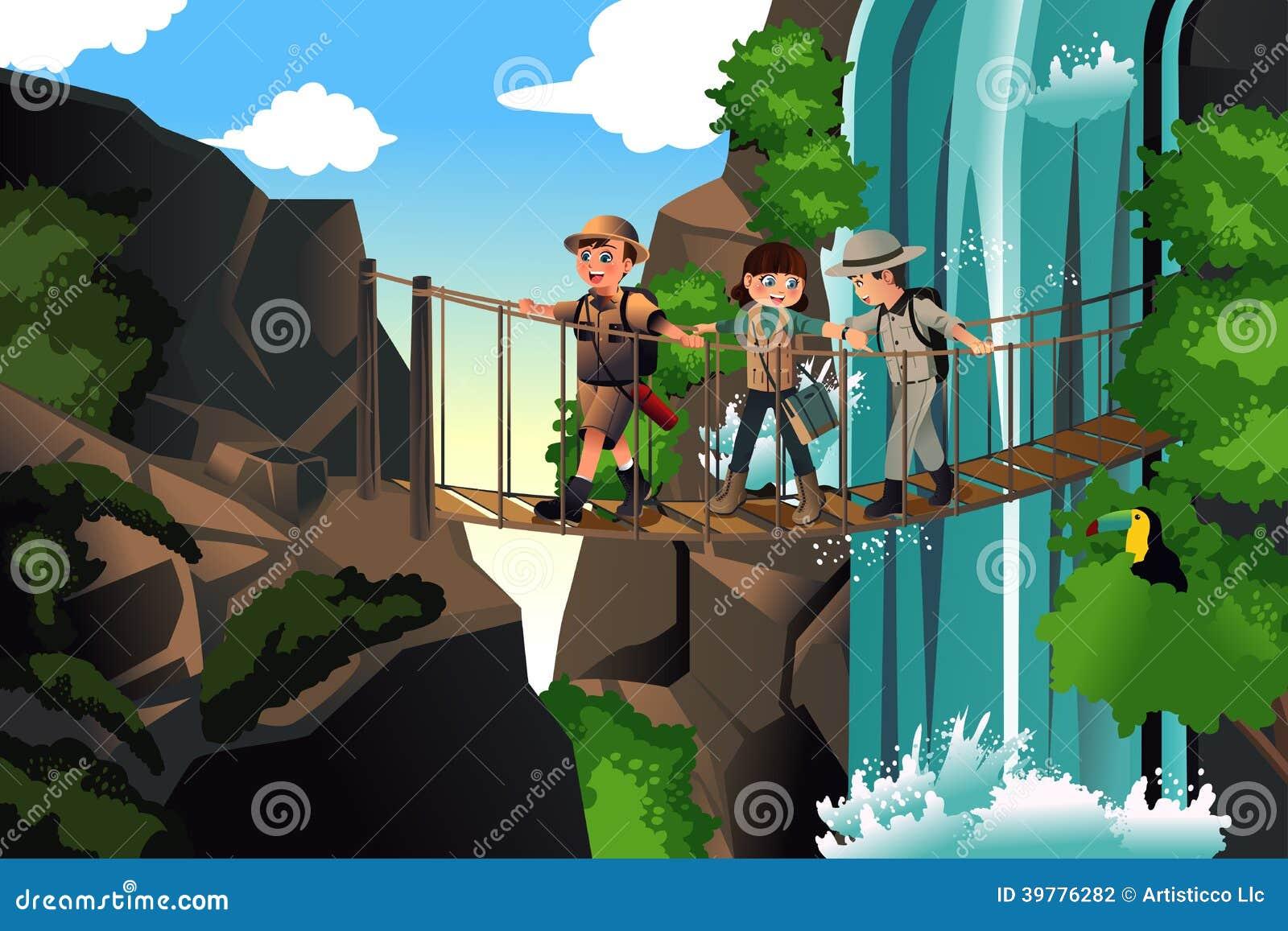Enfants en voyage d aventure