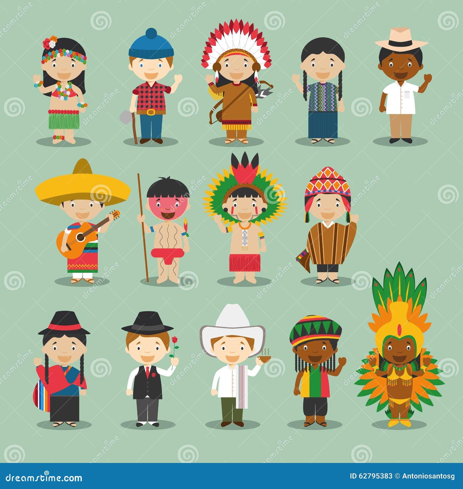 Enfants et nationalités du vecteur du monde : L Amérique a placé 4