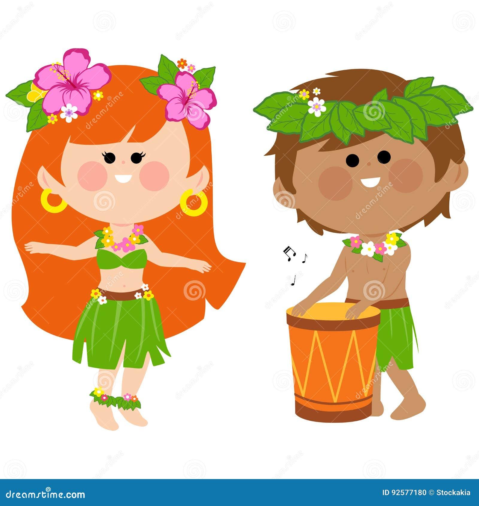 Enfants hawa ens jouant la musique avec un tambour et une for Musique barre danse classique gratuite