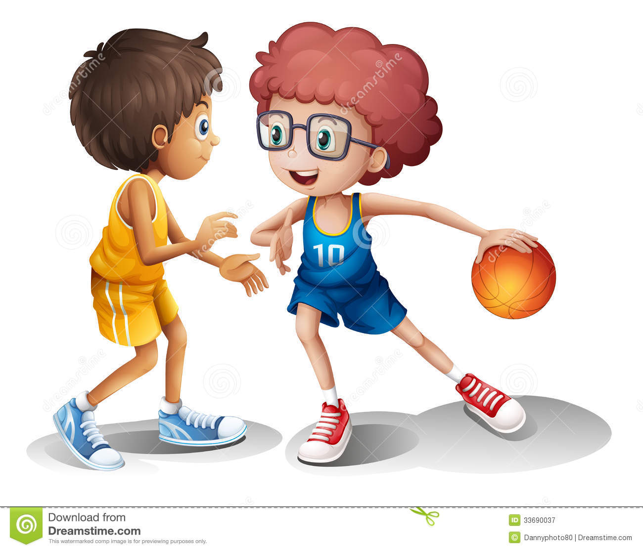 Enfants Jouant Le Basket Ball Photographie Stock Libre De