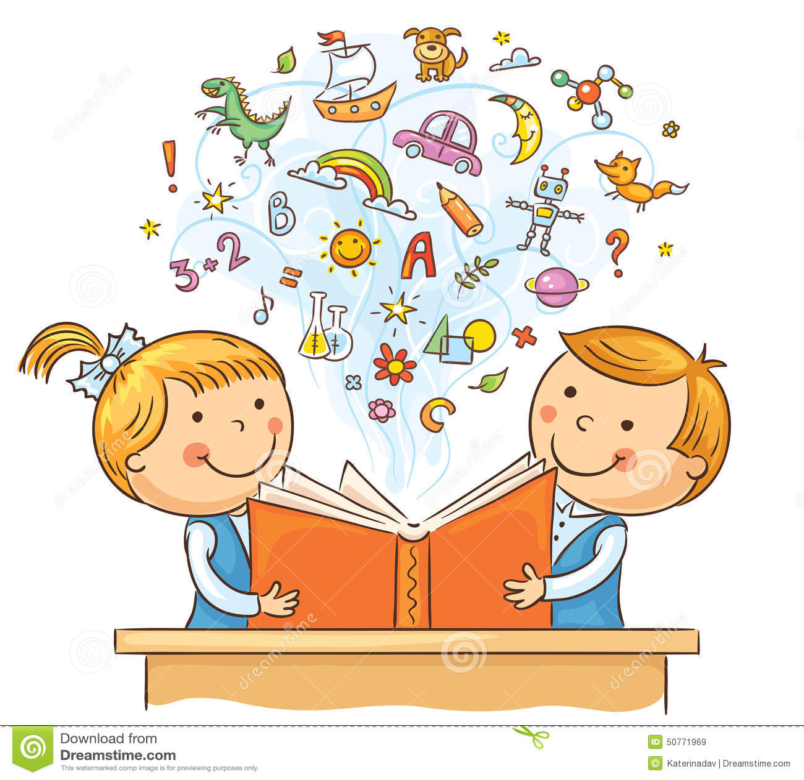 enfants lisant un livre ensemble illustration de vecteur illustration du lumineux personnes. Black Bedroom Furniture Sets. Home Design Ideas