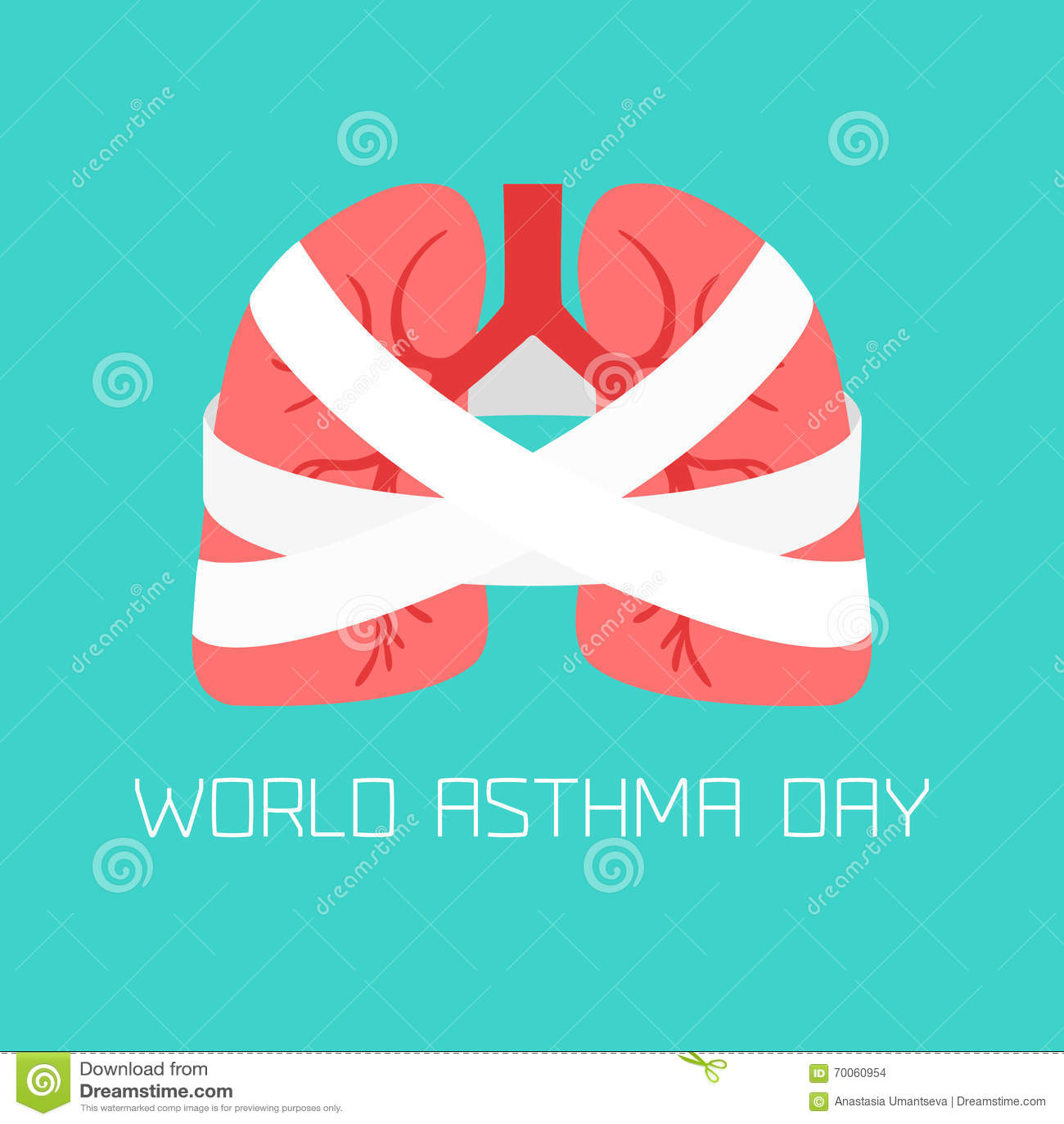Enfermedad Asma-respiratoria Del Sistema Ilustración del Vector ...
