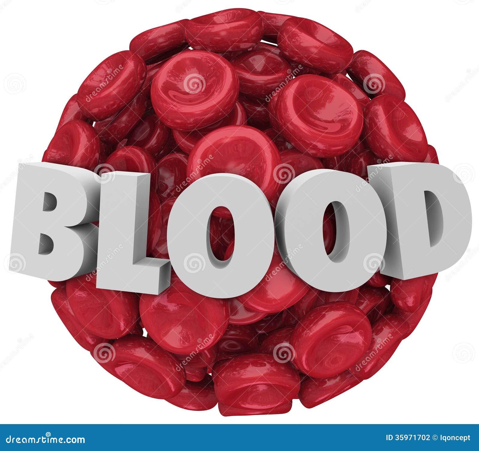 Enfermedad de la condición del coágulo del racimo de glóbulo rojo de la palabra de la sangre