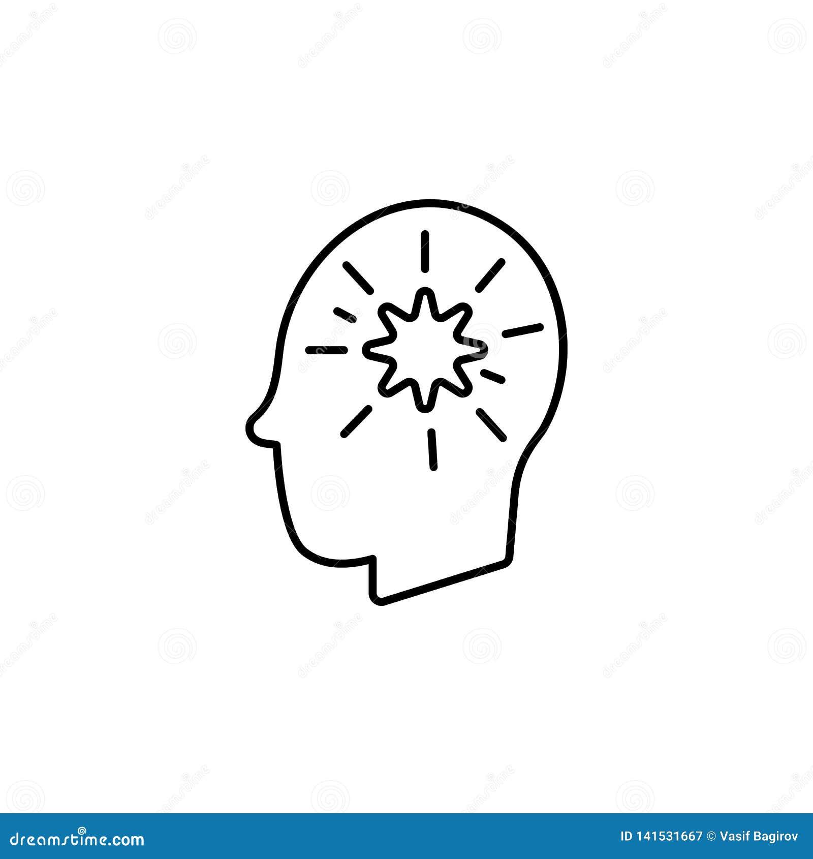 Enfermedades, paciente, cerebro, vector de los pensamientos Dolores del músculo, frío y bronquitis, pulmonía y fiebre, ejemplo mé
