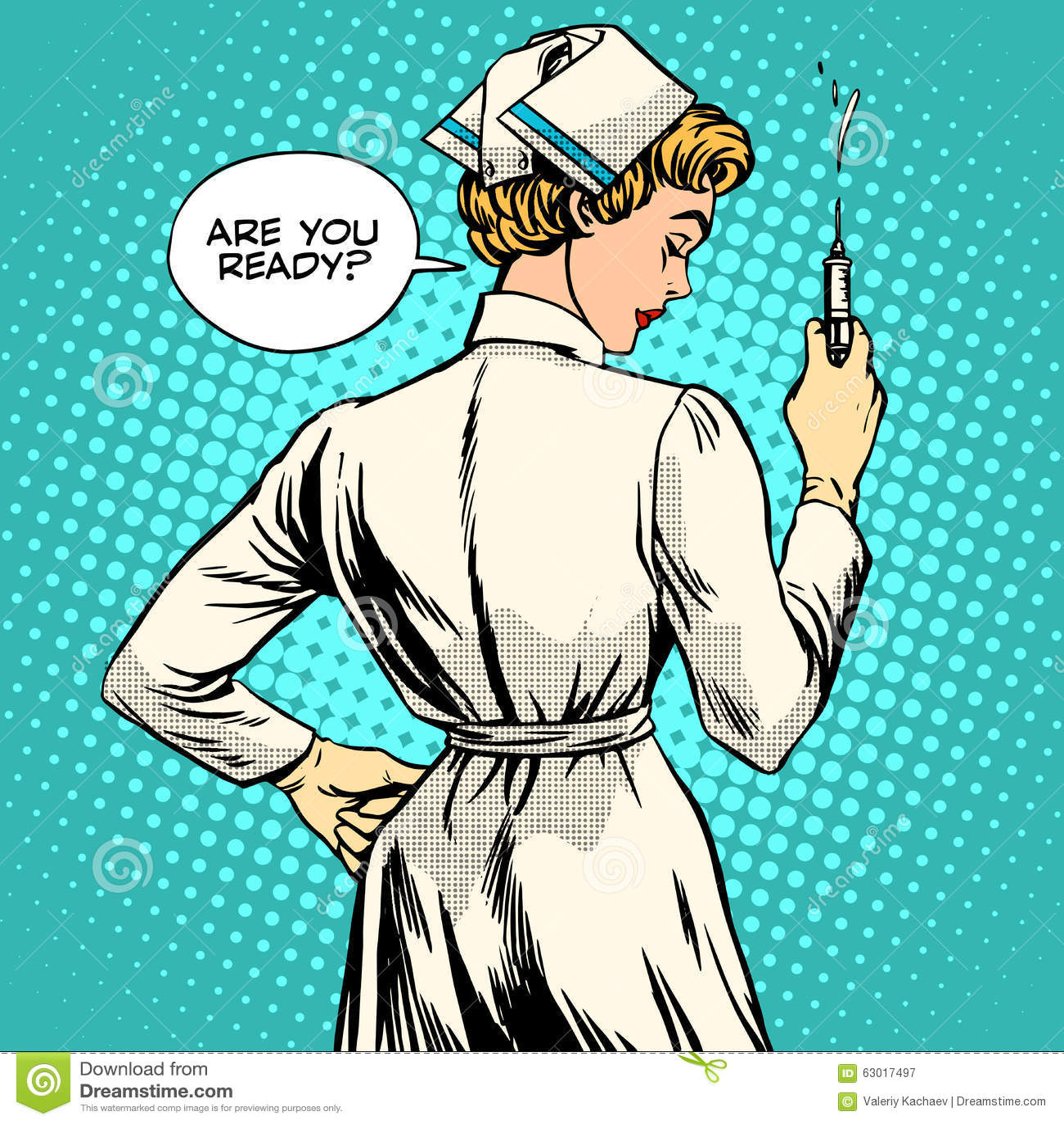 A enfermeira faz uma vacinação do tiro
