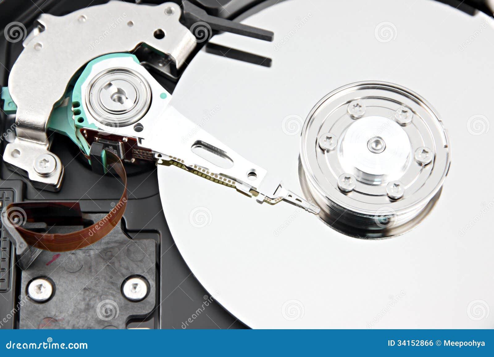 Enfoca el disco duro de la imagen abre la cubierta superior apagado.