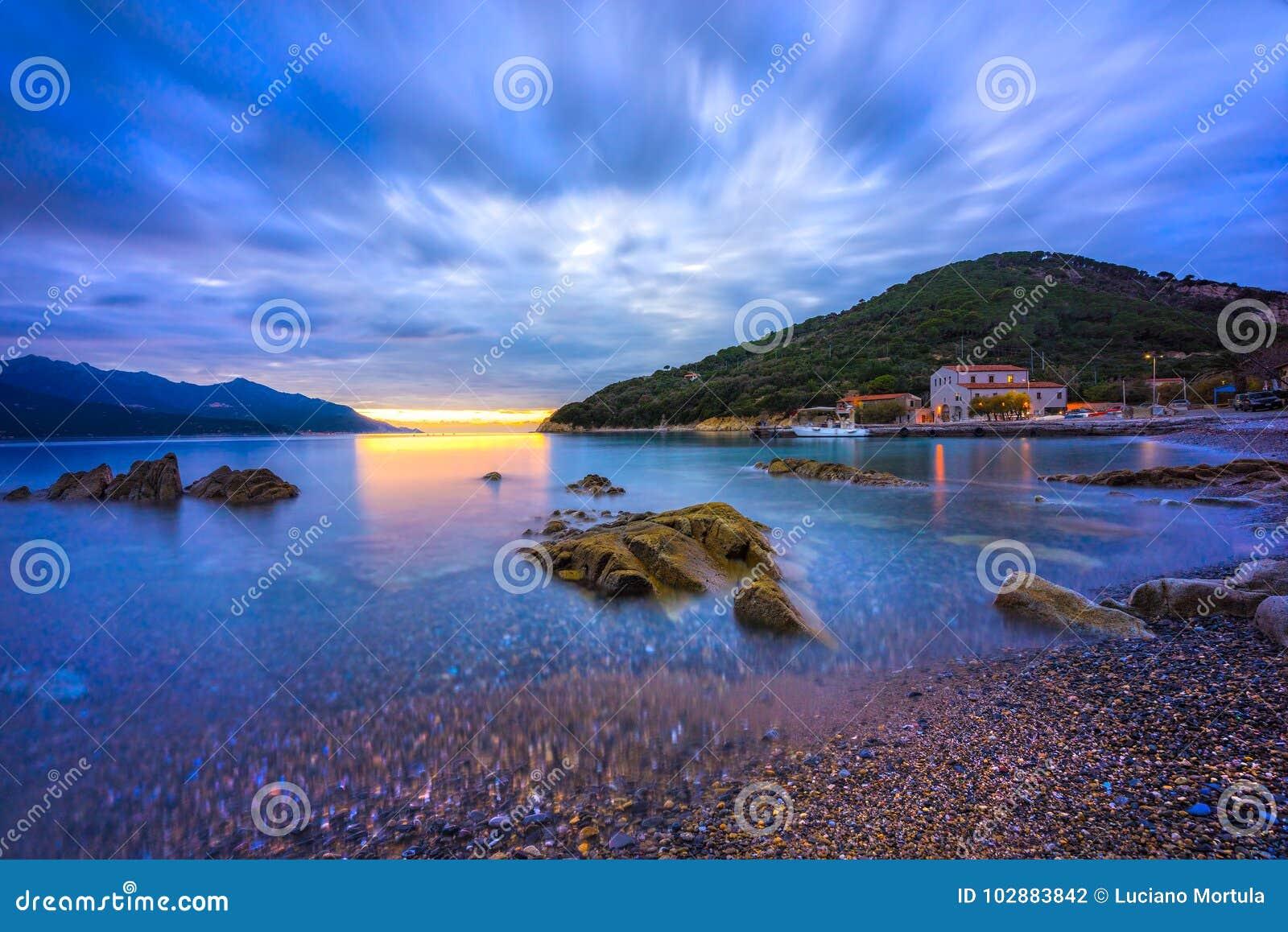 Enfola-Strand, Elba Island, Italien