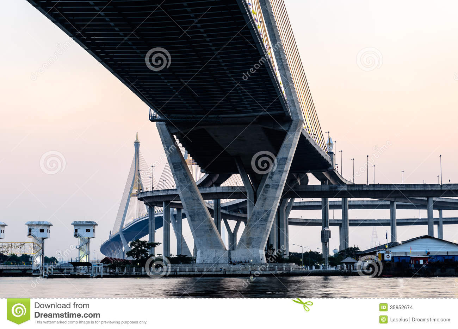 Enfoque del puente inferior de Bhumibol