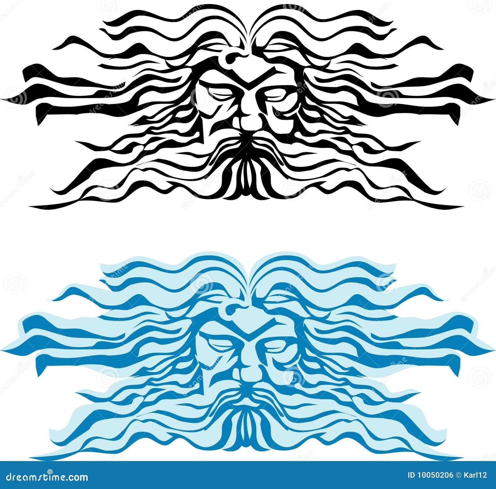 Enfrente o deus dos mares, do Poseidon ou do Neptun.