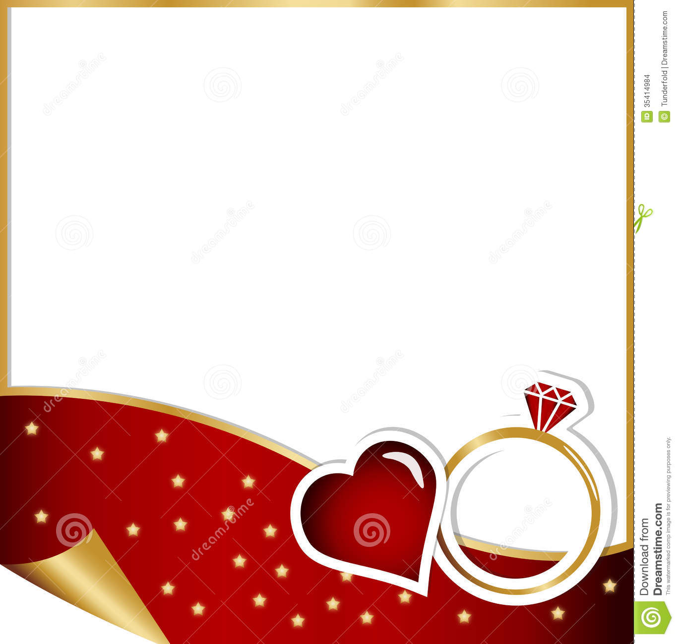 Engagement Card - Christmas Concept Stock Images - Image: 35414984